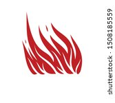 fire isolated flat icon. vector ... | Shutterstock .eps vector #1508185559