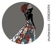 beautiful african woman | Shutterstock .eps vector #150820454