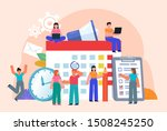 group of people stand near big... | Shutterstock .eps vector #1508245250