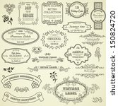 set of vintage design elements | Shutterstock .eps vector #150824720