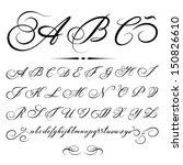 vector hand drawn calligraphic... | Shutterstock .eps vector #150826610