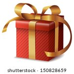 gift box with ribbon | Shutterstock .eps vector #150828659