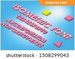 modern isometric alphabet font. ... | Shutterstock .eps vector #1508299043
