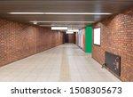 walkway with brown brick wall... | Shutterstock . vector #1508305673