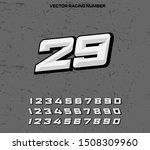 vector racing number designs... | Shutterstock .eps vector #1508309960