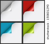 set of color curled corners | Shutterstock .eps vector #150831290