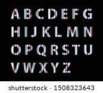 english alphabet set  colorful... | Shutterstock .eps vector #1508323643