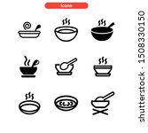 soup icon isolated sign symbol... | Shutterstock .eps vector #1508330150