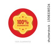 100  guaranteed label  ... | Shutterstock .eps vector #1508338526