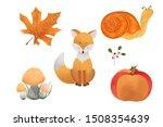 Watercolour Autumn Elements....