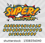 comic retro font set. alphabet... | Shutterstock .eps vector #1508356040