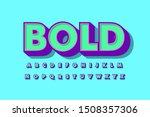 modern 3d bold font and alphabet | Shutterstock .eps vector #1508357306