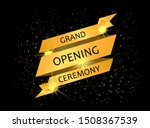 grand opening ceremony golden... | Shutterstock .eps vector #1508367539