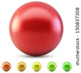 red glossy ball vector... | Shutterstock .eps vector #150837308