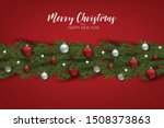 christmas tree branch... | Shutterstock .eps vector #1508373863