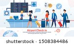 airline company airport check...   Shutterstock .eps vector #1508384486