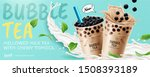 bubble tea banner ads with... | Shutterstock .eps vector #1508393189