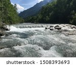 Idyllic River And Valley Near...