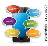 smartphone and app message... | Shutterstock . vector #150840074