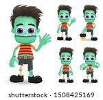 zombie halloween vector... | Shutterstock .eps vector #1508425169