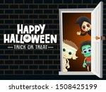 happy halloween vector... | Shutterstock .eps vector #1508425199