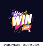 win word on bright triangles... | Shutterstock .eps vector #1508452226