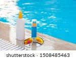 sunscreen creams and sunglasses ...   Shutterstock . vector #1508485463