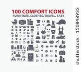 100 comfort icons  furniture ...