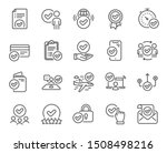 approve line icons. interviewed ... | Shutterstock .eps vector #1508498216