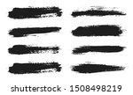 brush lines set. vector black... | Shutterstock .eps vector #1508498219