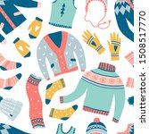 seamless pattern with cute... | Shutterstock .eps vector #1508517770