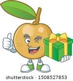 with gift fresh longan cartoon...   Shutterstock .eps vector #1508527853