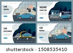 automobile services isolated on ... | Shutterstock .eps vector #1508535410