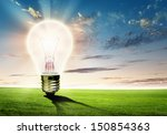 Image Of Light Bulb Against...