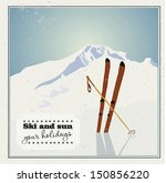 winter  background. mountains... | Shutterstock .eps vector #150856220