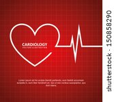 cardiology design over red... | Shutterstock .eps vector #150858290