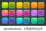 square frames and buttons for... | Shutterstock .eps vector #1508593229
