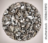 cartoon doodles latin america... | Shutterstock . vector #1508619893
