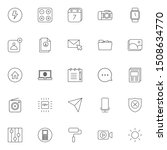 set 13 of ui and ux icon in...