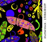 hand drawn seamless pattern... | Shutterstock .eps vector #1508638109