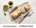 ciabatta. fresh italian... | Shutterstock . vector #1508642369
