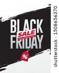 black friday sale banner layout ...   Shutterstock .eps vector #1508656370