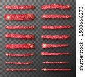vector gold paint smear stroke... | Shutterstock .eps vector #1508666273