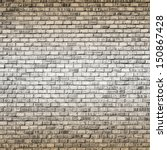 Interior design - brick wall with top and bottom vignette - stock photo