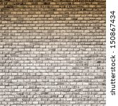 Interior design - brick wall with gradient - stock photo