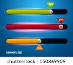 vector ui sliders set. volume...