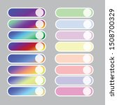 set of colored gradient web...