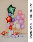 balloons of different colors... | Shutterstock . vector #1508703620