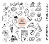 set of hand drawn elements... | Shutterstock .eps vector #1508713160