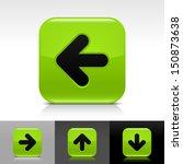 arrow icon set green glossy web ...